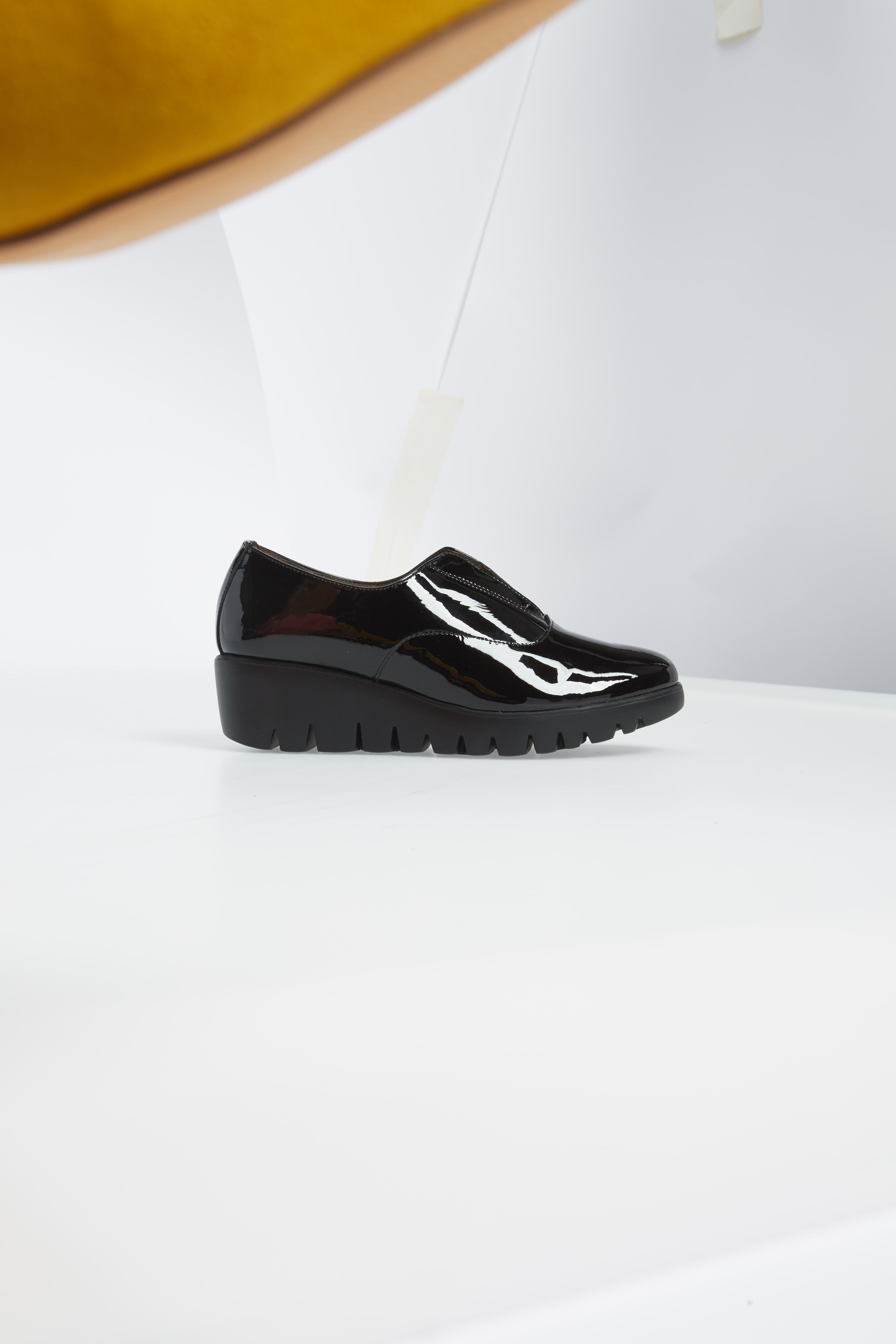 ,                             Platform Derby,                             Alternate thumbnail 3, color,                             BLACK PATENT LEATHER