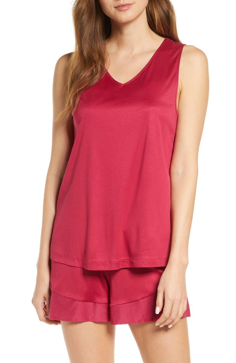 HANRO Alika Short Pajamas, Main, color, BARBERRY