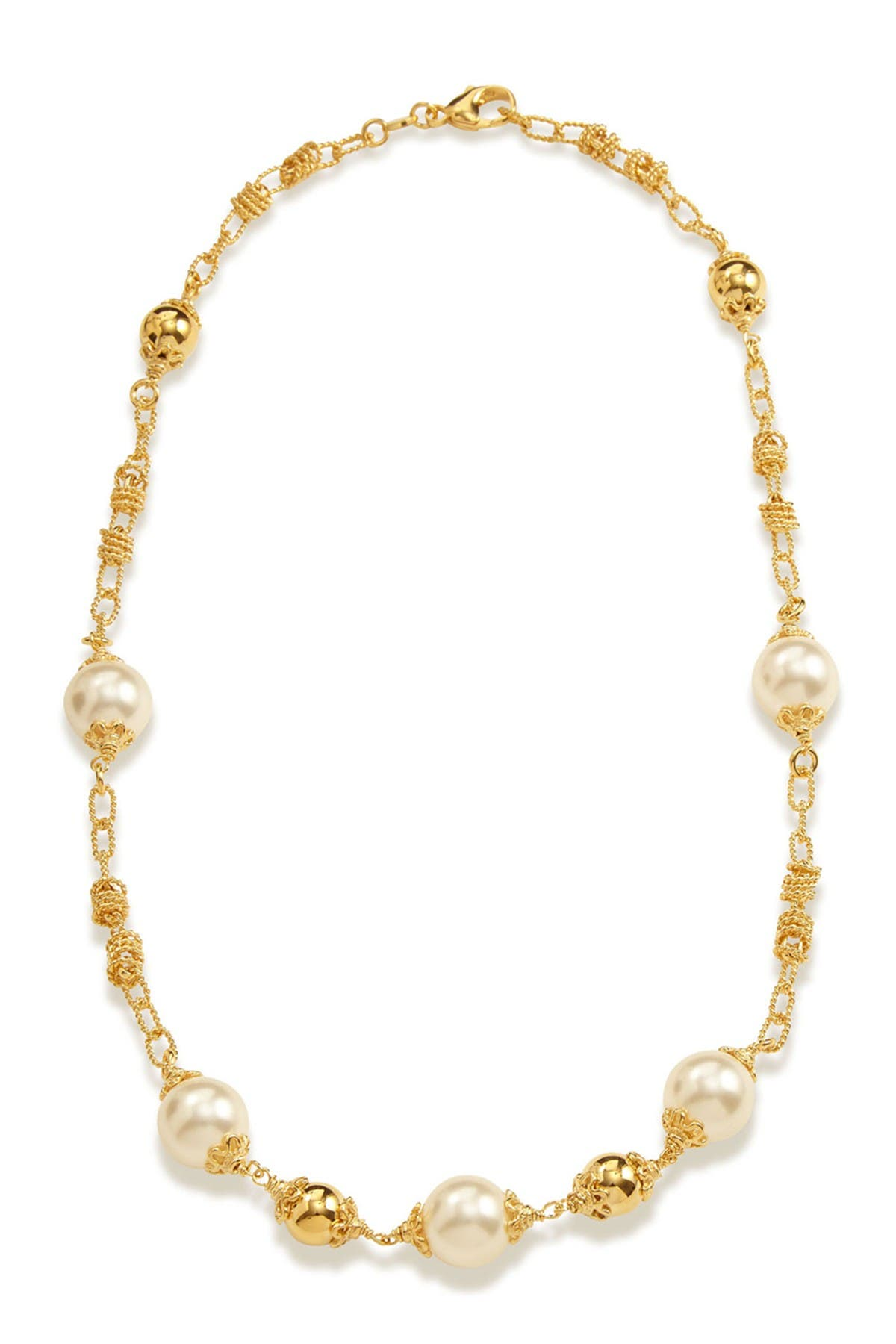 Image of Savvy Cie Swarovski Pearl Bauble Necklace