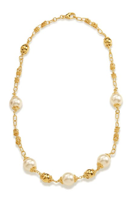 Image of Savvy Cie Swarovski Pearl Bauble Necklace
