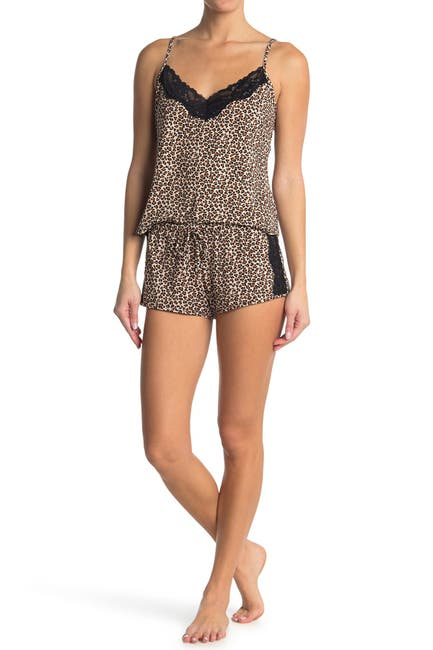 Image of In Bloom by Jonquil Madison Leopard Print Cami & Shorts 2-Piece Pajama Set
