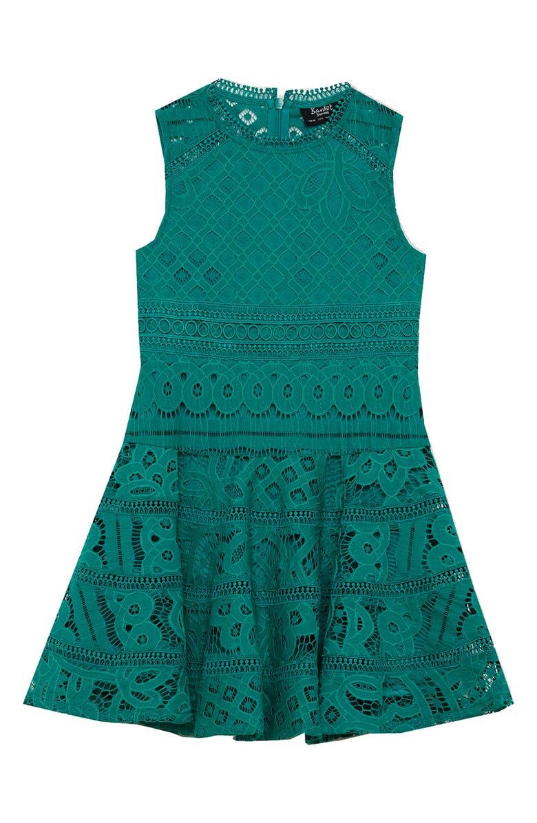 BARDOT Elise Lace A-Line Dress, Main, color, 300
