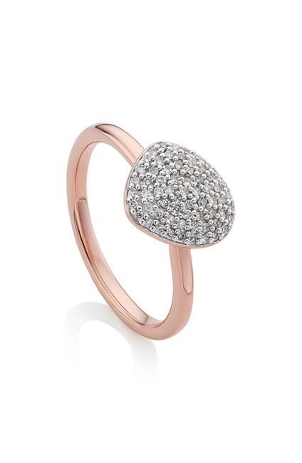 Image of MONICA VINADER 18K Vermeil Sterling Silver Nura Small Pebble Stacking Ring