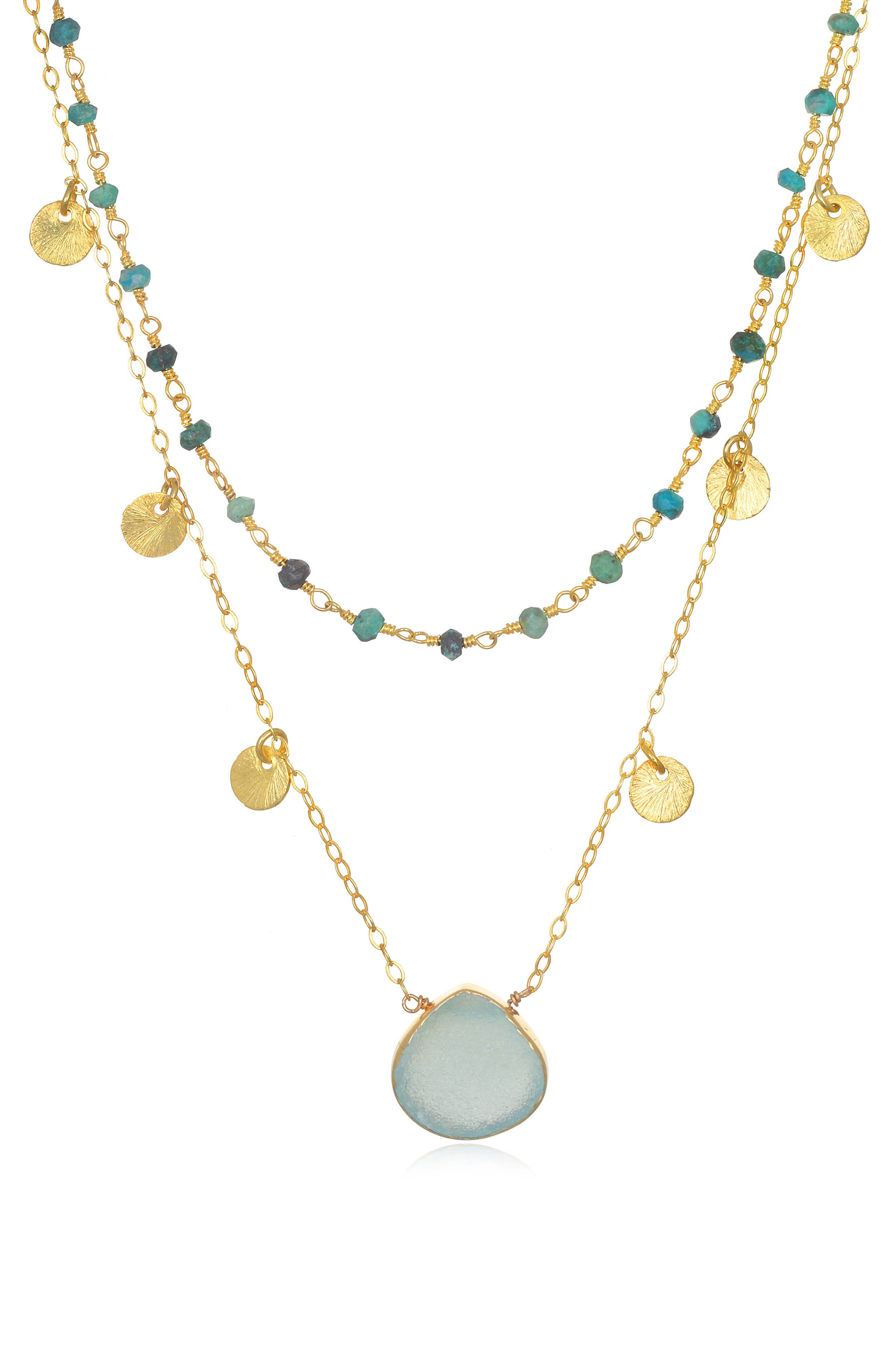 Catalina Disc Layer Necklace