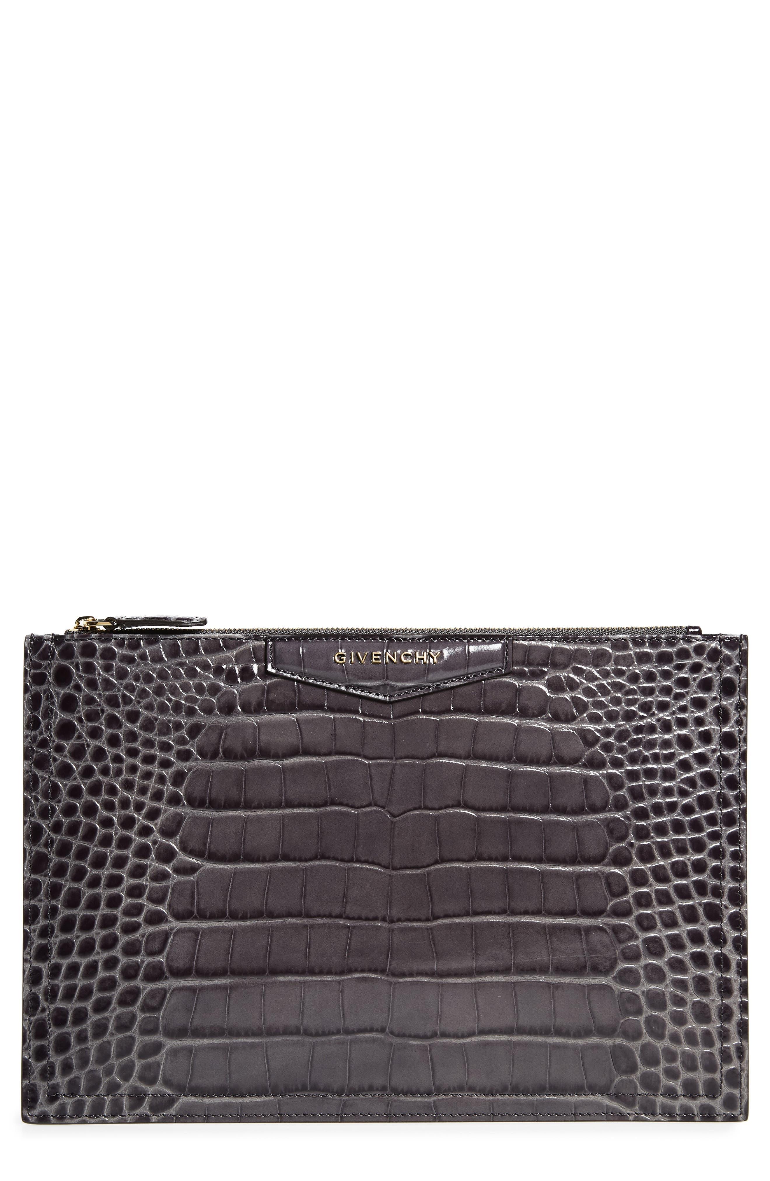 Givenchy Medium Antigona Croc Embossed Leather Pouch | Nordstrom