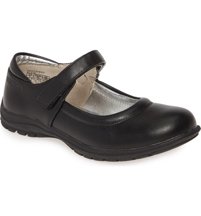 KENNETH COLE NEW YORK 'Dolly School' Mary Jane, Main, color, BLACK FAUX LEATHER
