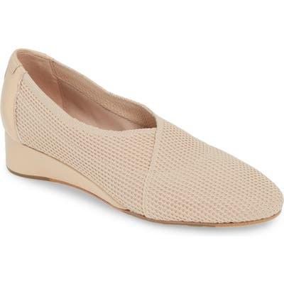 Taryn Rose Collection Celeste Slip-On Wedge- Beige
