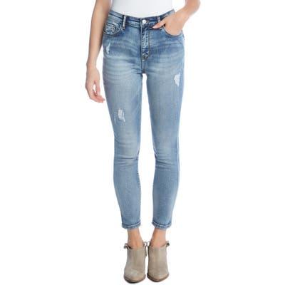 Karen Kane High Waist Ankle Skinny Jeans, Blue