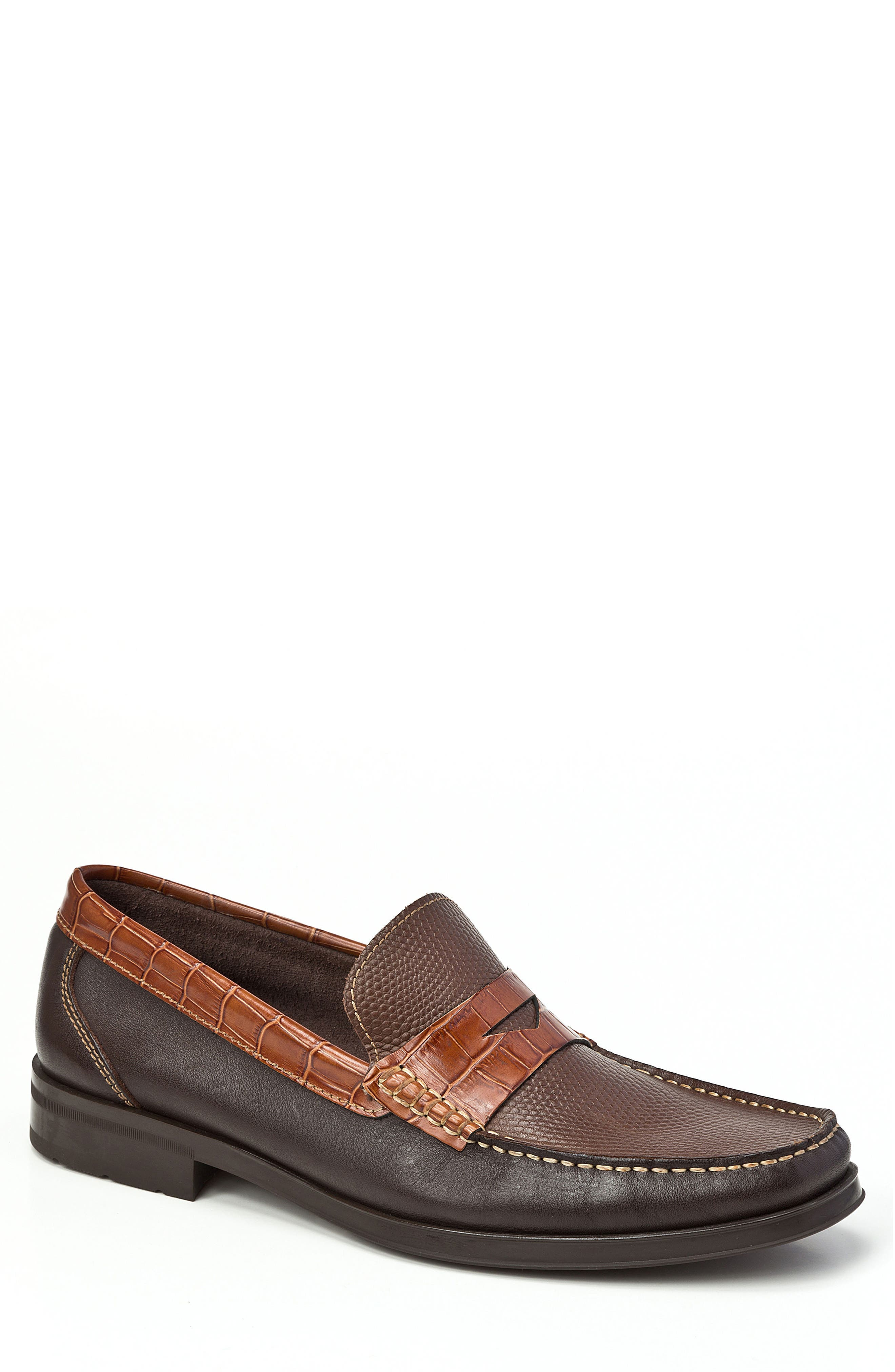 Image of Sandro Moscoloni Siena Pebble Embossed Penny Loafer