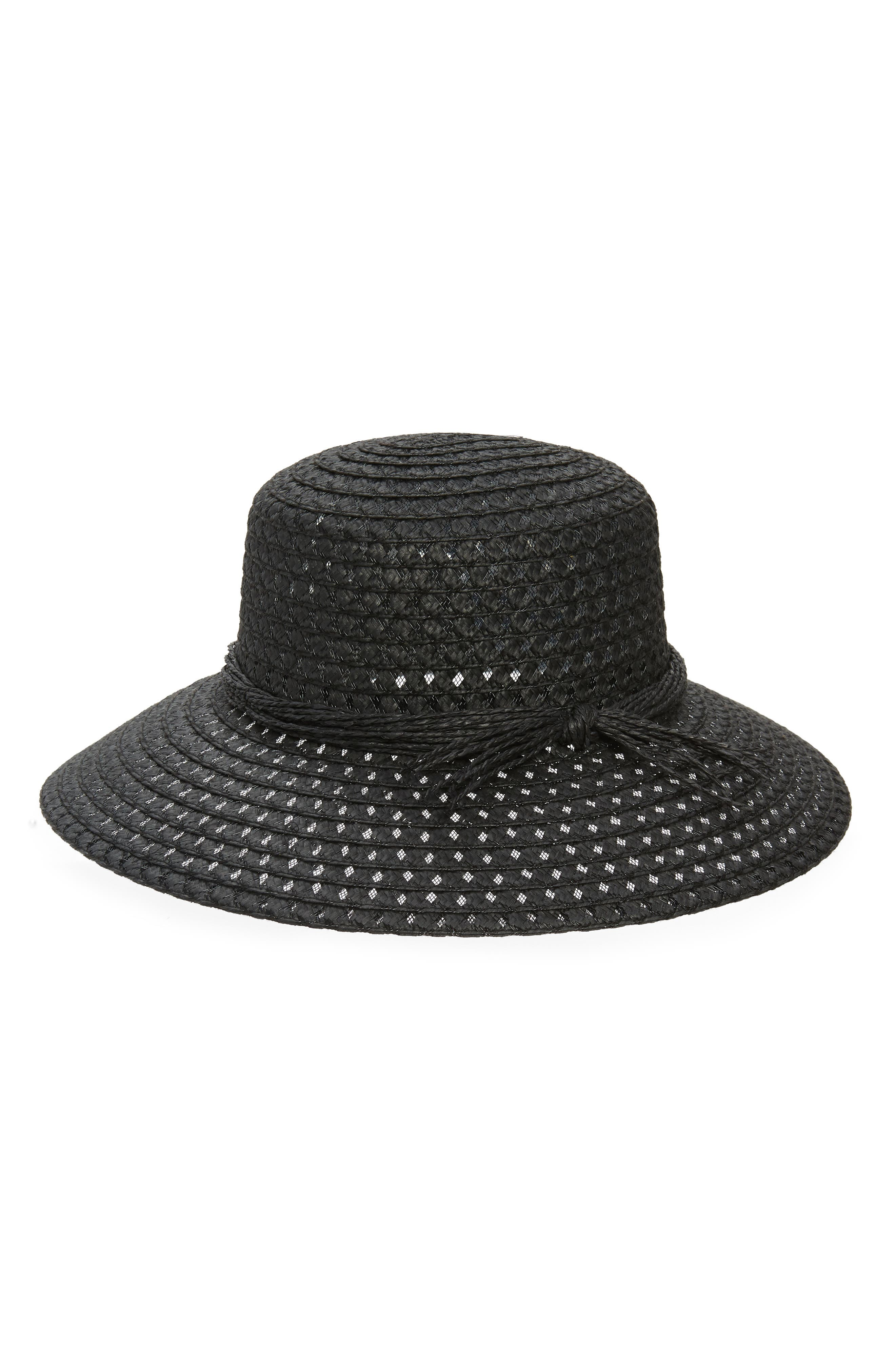 A hat featuring a wide slanted brim with a cooling, open-weave diamond pattern lets the sun play beautifully across your face while you\\\'re lounging poolside. Style Name: Nordstrom Open Weave Hat. Style Number: 5987616. Available in stores.