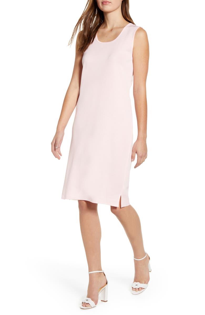MING WANG Sleeveless Knit Tank Dress, Main, color, SUGAR