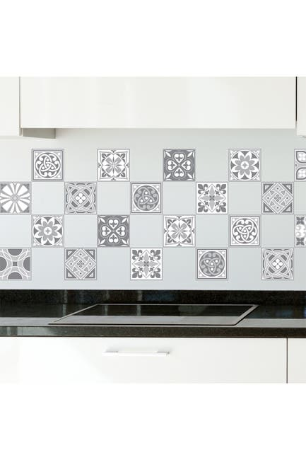 Image of WalPlus Purbeck Stone Tiles Wall Stickers - 10 cm x 10 cm - 24 Pieces