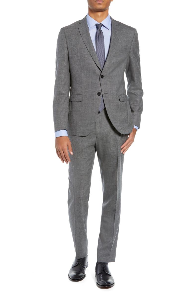 BOSS Reymond/Wenten Extra Slim Fit Solid Wool Suit, Main, color, MEDIUM GREY