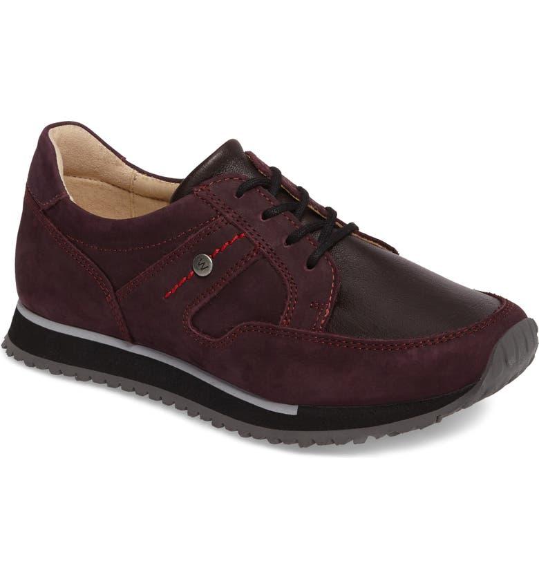 WOLKY E-Walk Sneaker, Main, color, BORDO LEATHER