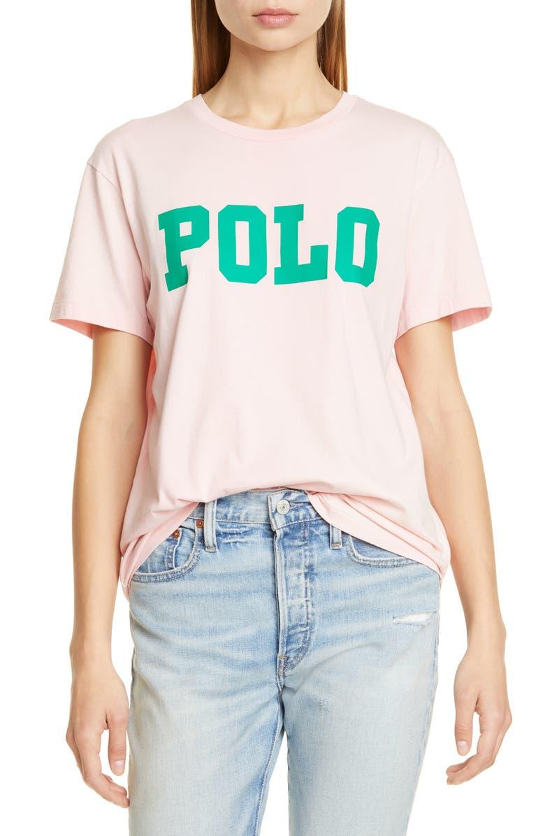 POLO RALPH LAUREN Big Polo Tee, Main, color, PINK