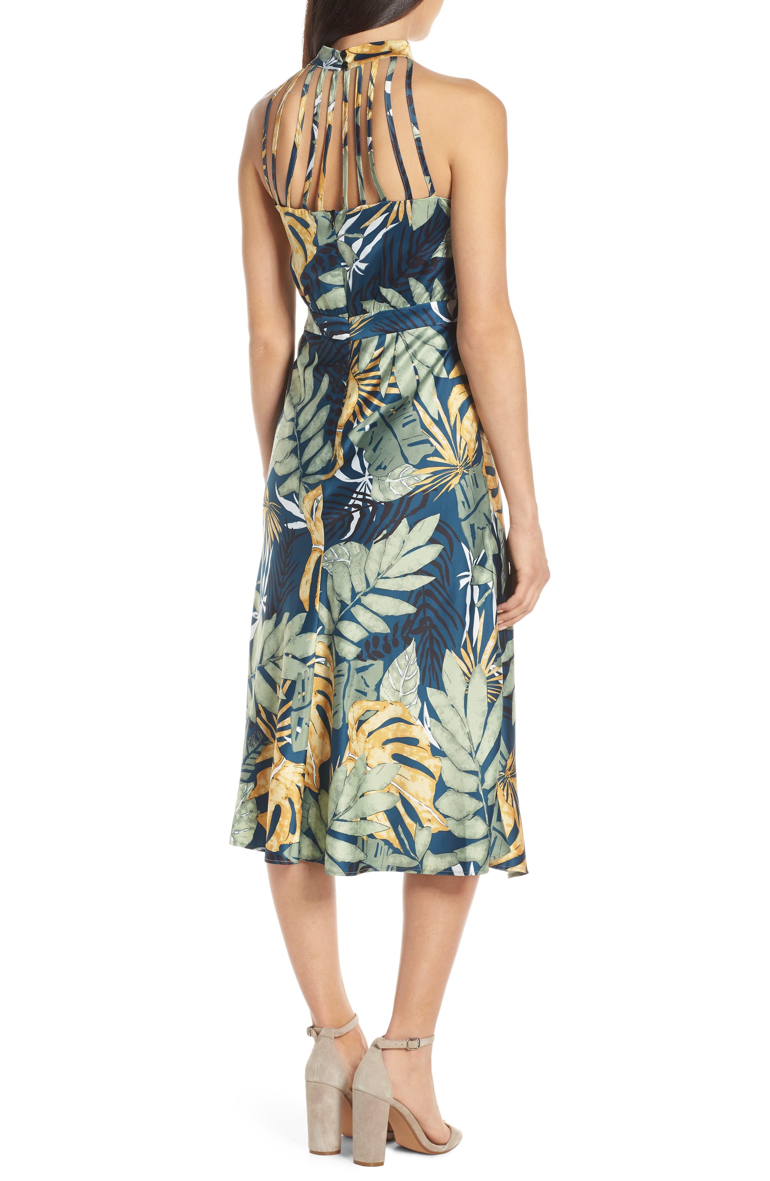 ,                             Floral Print Strappy Back Dress,                             Alternate thumbnail 2, color,                             NAVY FLORAL