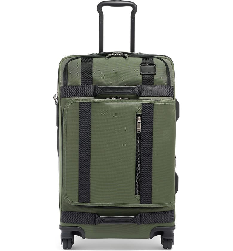 TUMI Merge 26-Inch Front Lid Recycled Dual Access 4-Wheel Packing Case, Main, color, FOREST