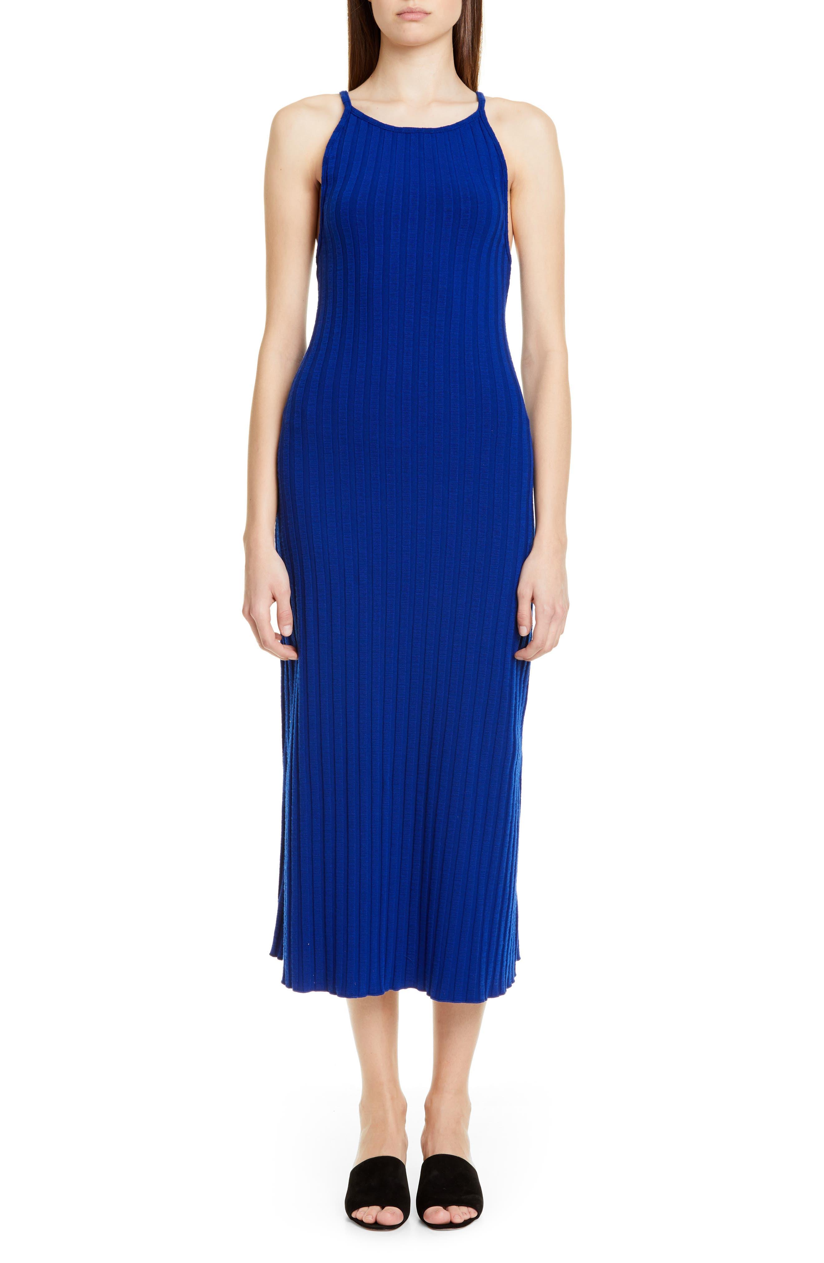 Matomi Rib Dress, Main, color, ELECTRIC BLUE