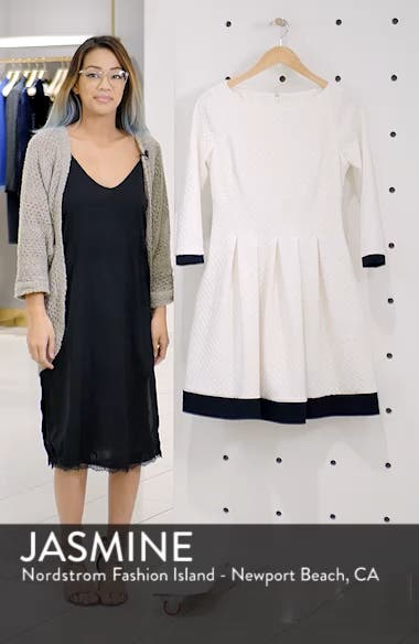 Dot Textured Fit & Flare Dress, sales video thumbnail