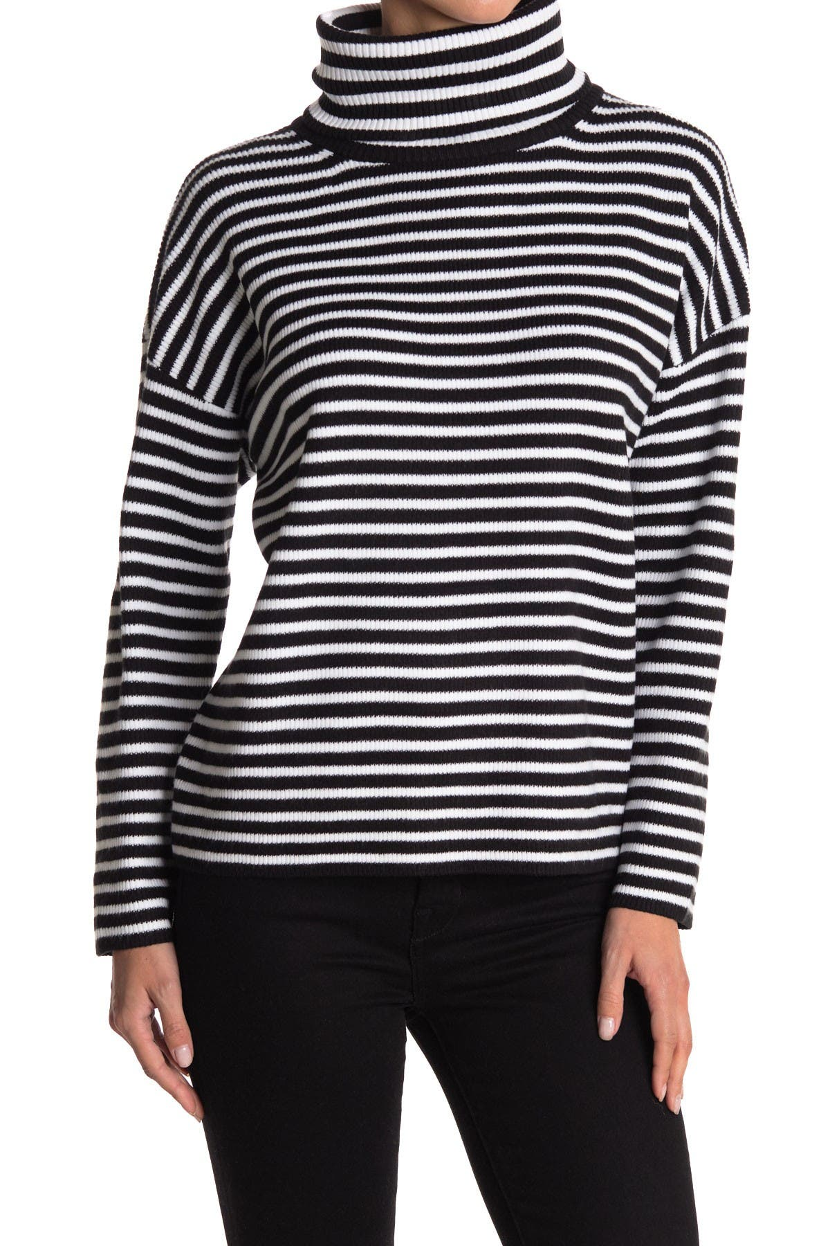 Image of French Connection Ribbed Cowl Neck Sweater