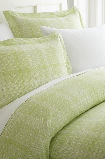 Image of IENJOY HOME Home Spun Premium Ultra Soft Polka Dot Pattern 2-Piece Duvet Cover Twin Set - Moss