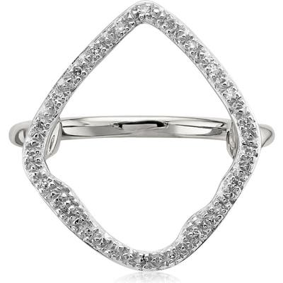 Monica Vinader Riva Hoop Diamond Ring