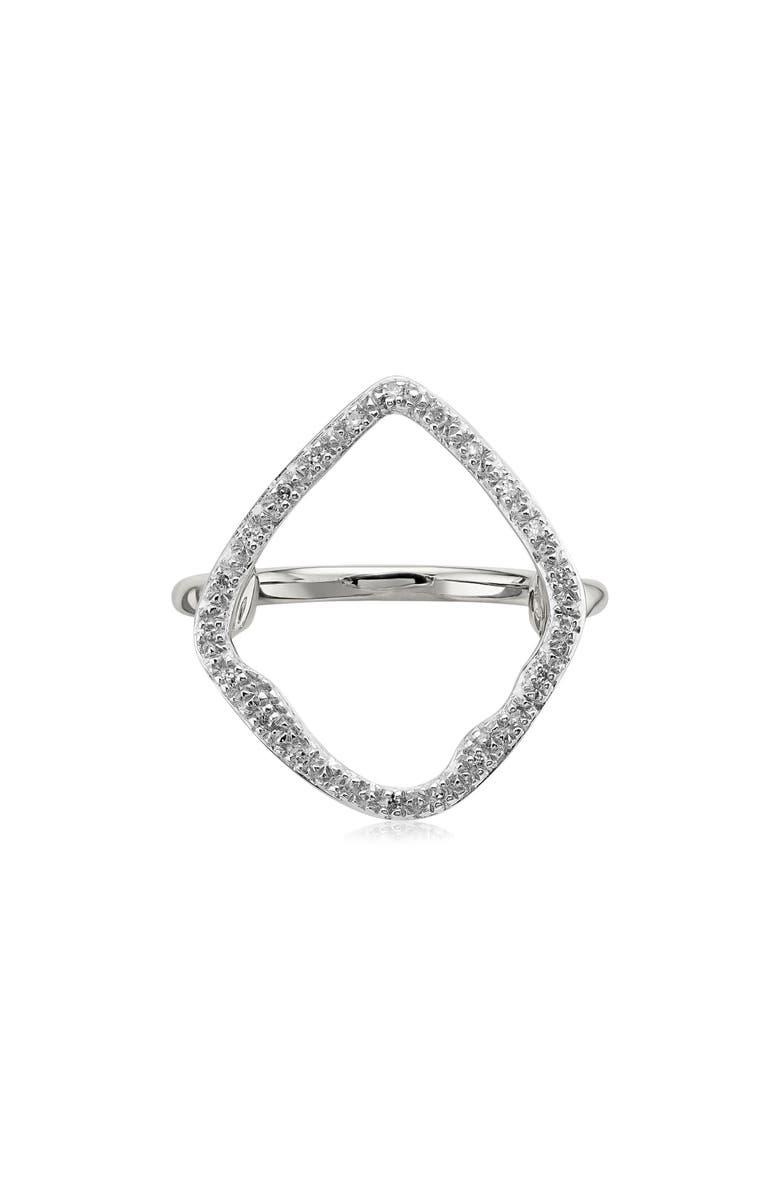 MONICA VINADER Riva Hoop Diamond Ring, Main, color, SILVER