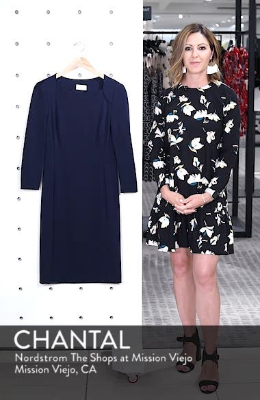 Back Cutout Ponte Sheath Dress, sales video thumbnail