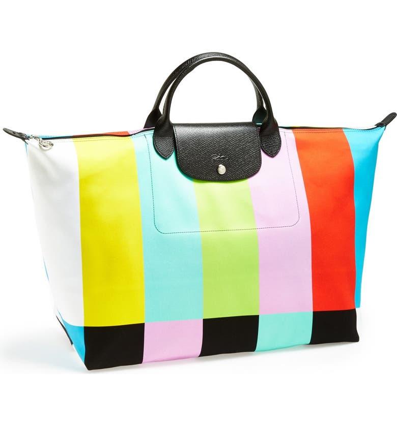 LONGCHAMP 'Jeremy Scott - Color Bar' Travel Bag, Main, color, 001