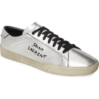 Saint Laurent Low Top Sneaker, Metallic