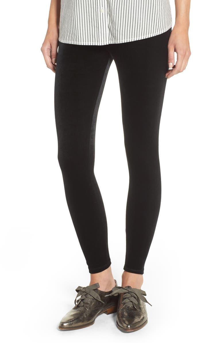 NORDSTROM Luxe Velvet Leggings, Main, color, 001