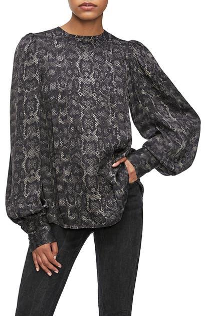 Anine Bing T-shirts RENEE STRETCH SILK SHIRT