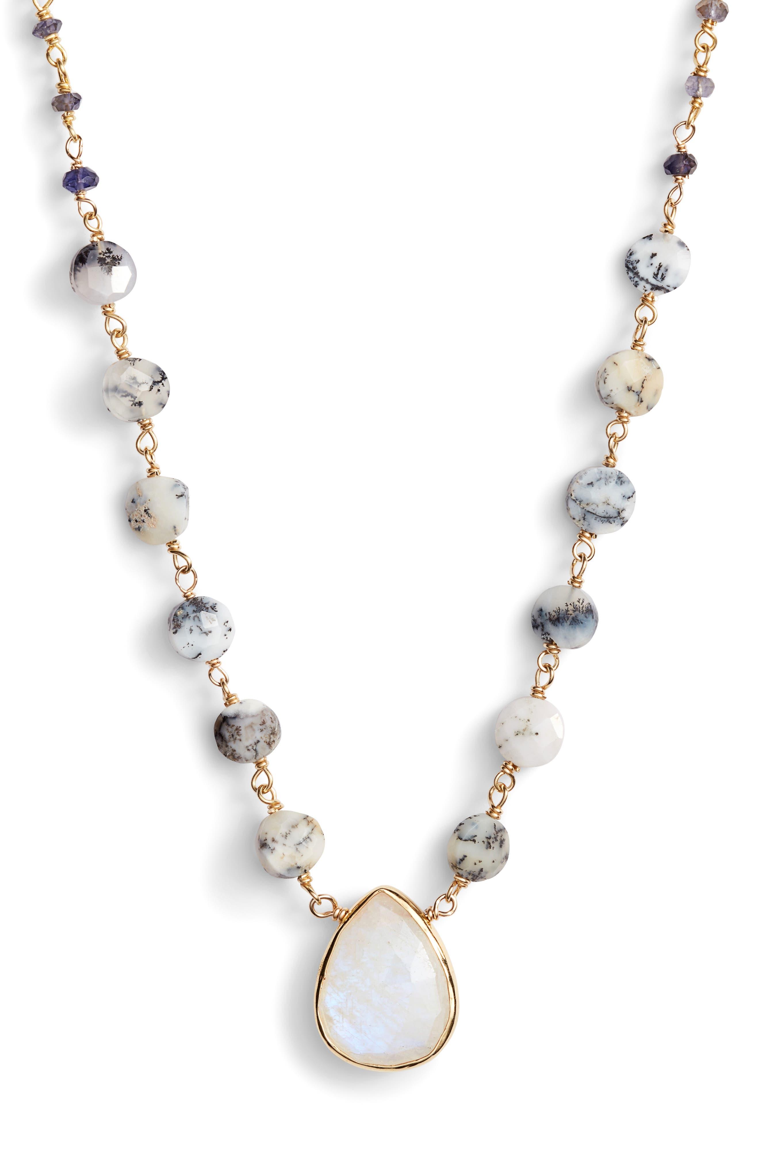 Semiprecious Stone Pendant Necklace