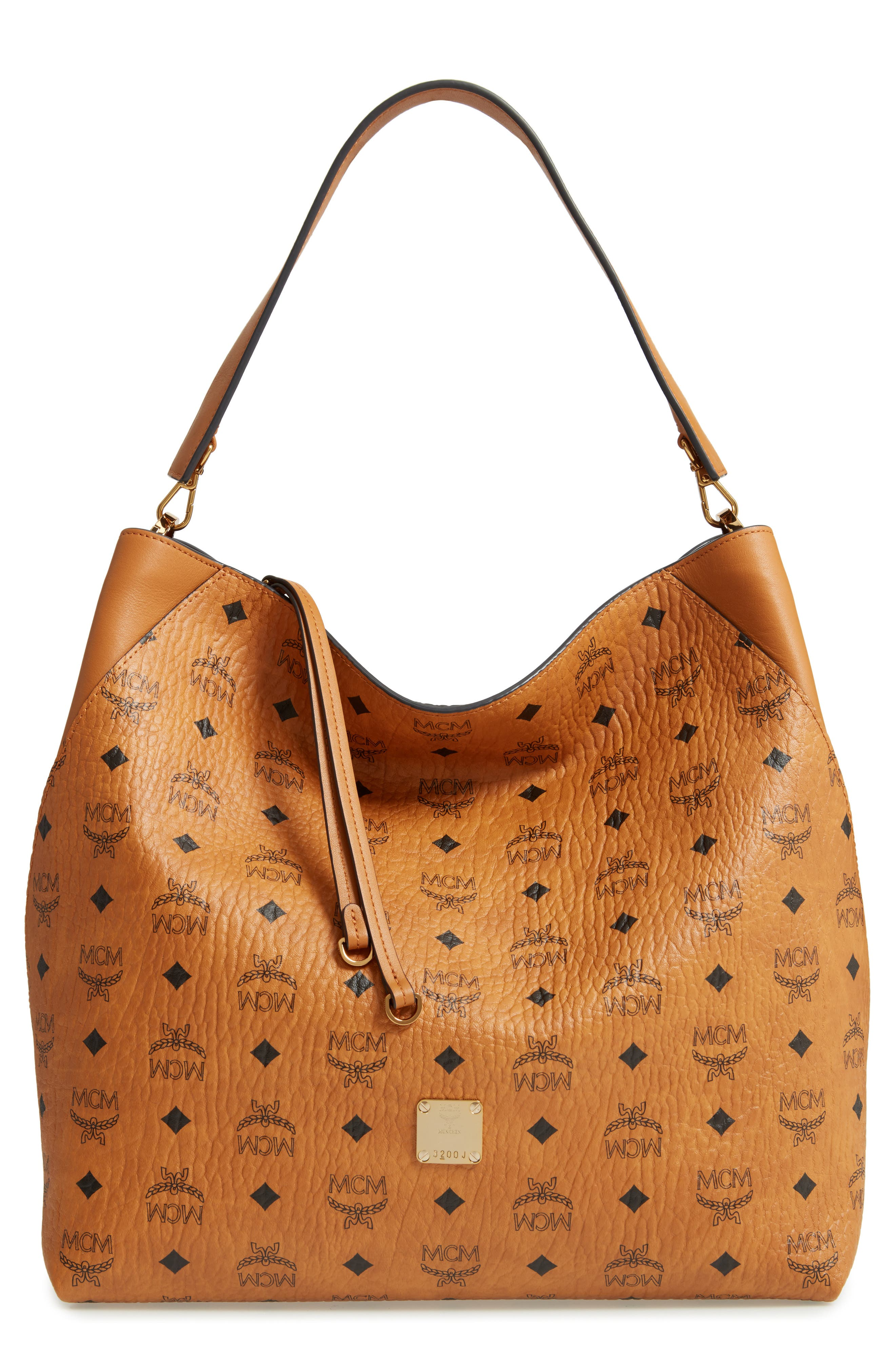 ,                             Large Klara Visetos Coated Canvas Hobo,                             Main thumbnail 9, color,                             200