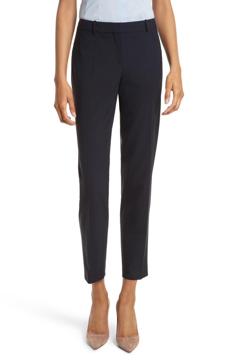 BOSS Tiluna Slim Stretch Wool Suit Trousers, Main, color, 480