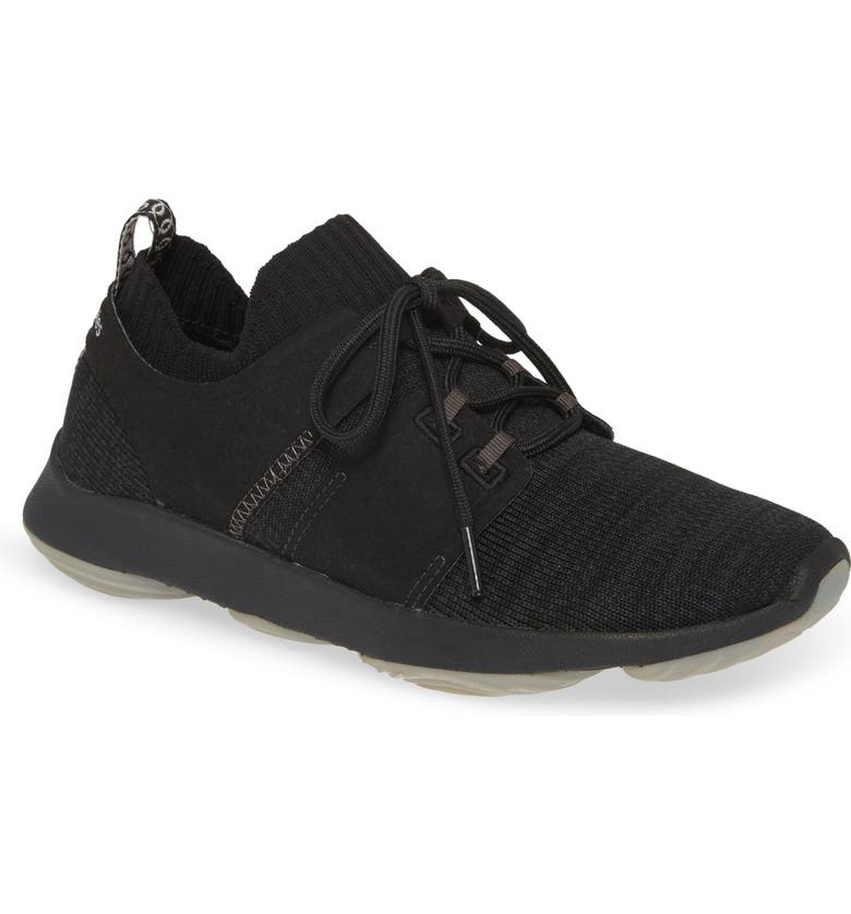HUSH PUPPIES<SUP>®</SUP> World Sneaker, Main, color, BLACK KNIT FABRIC