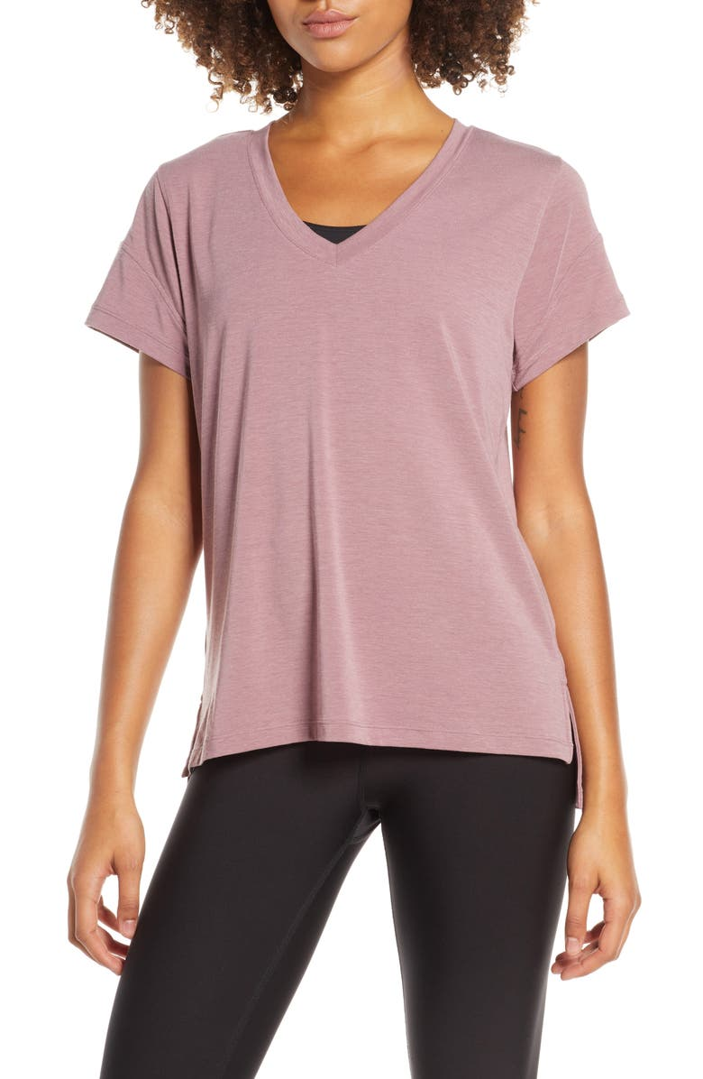 ZELLA Ava Quick-Dry Tee, Main, color, PURPLE SHAKE