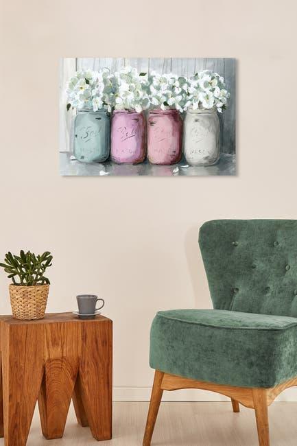 Image of Wynwood Studio Mason Jar Soft Pink Wall Art