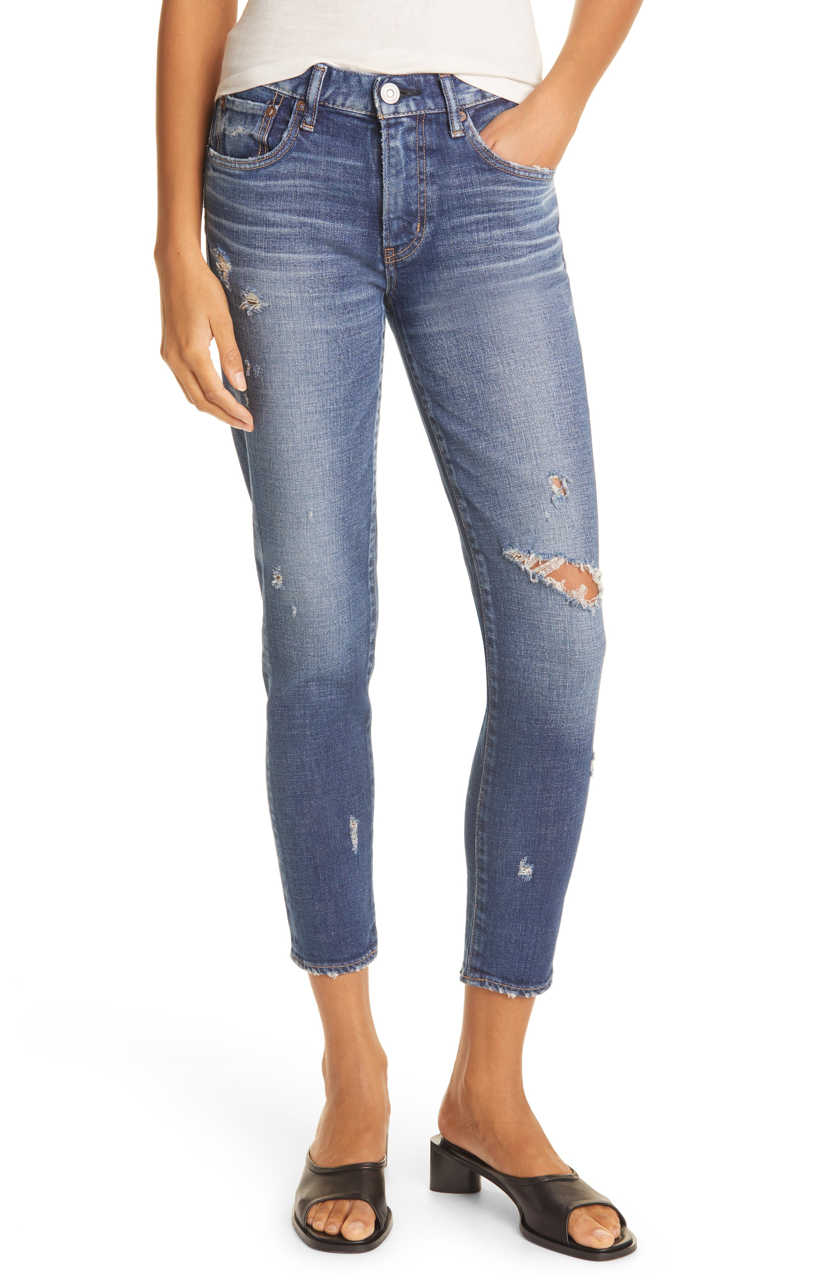 Ripped Gleedsville Ankle Skinny Jeans