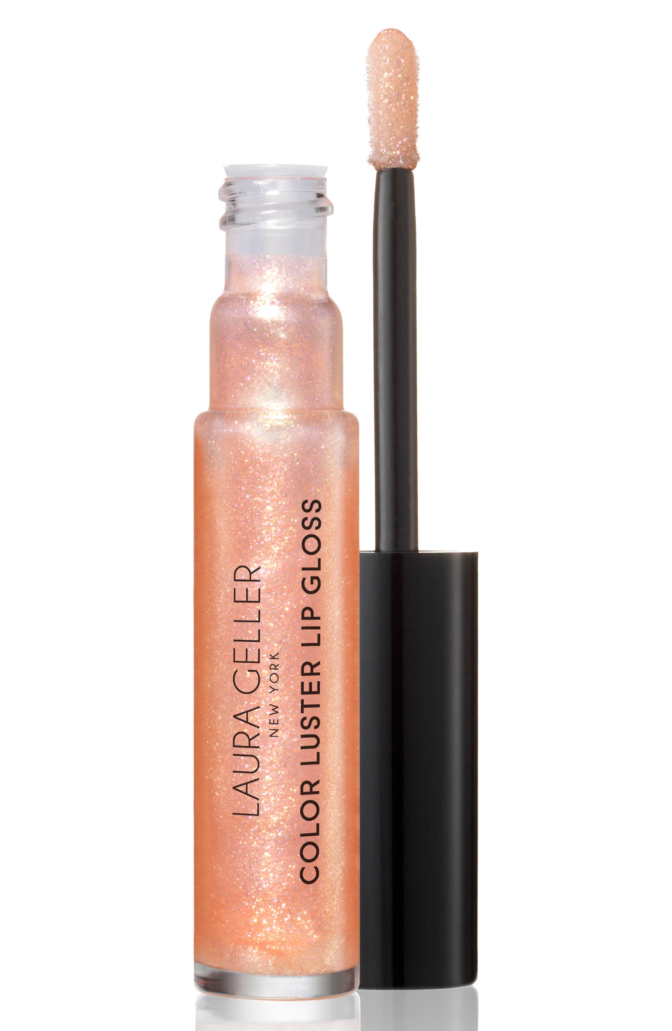 ,                             Color Luster Lip Gloss Hi-Def Top Coat,                             Main thumbnail 1, color,                             GILDED HONEY