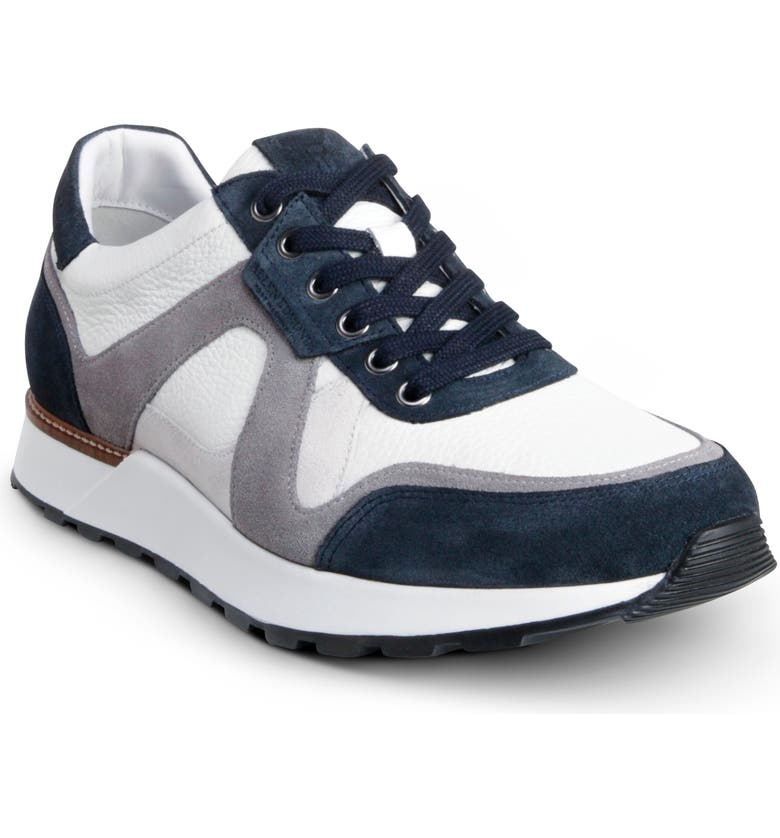 ALLEN EDMONDS A-Trainer Sneaker, Main, color, NAVY/ WHITE
