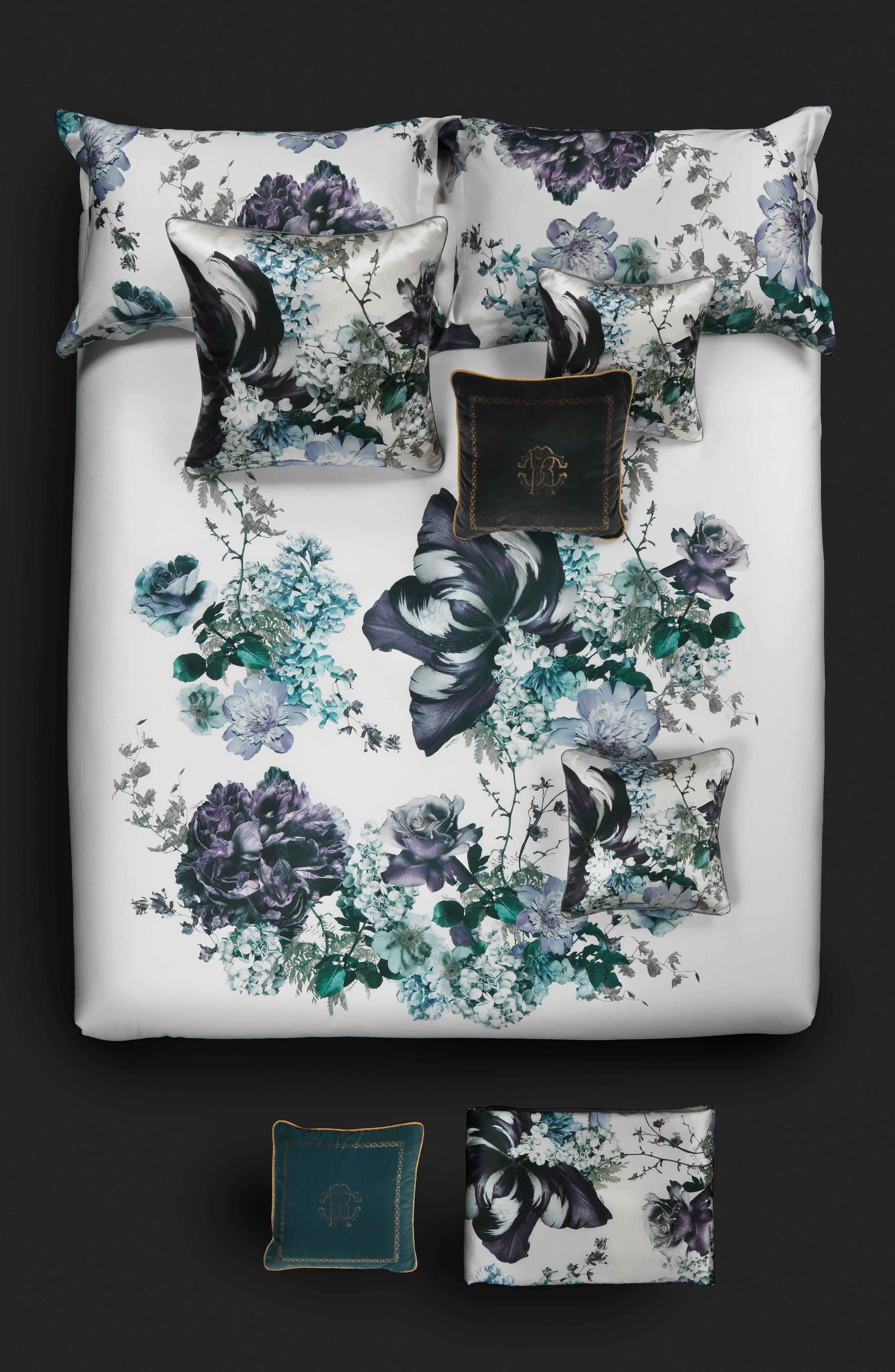 Roberto Cavalli Floris Duvet Cover Size King  Blue