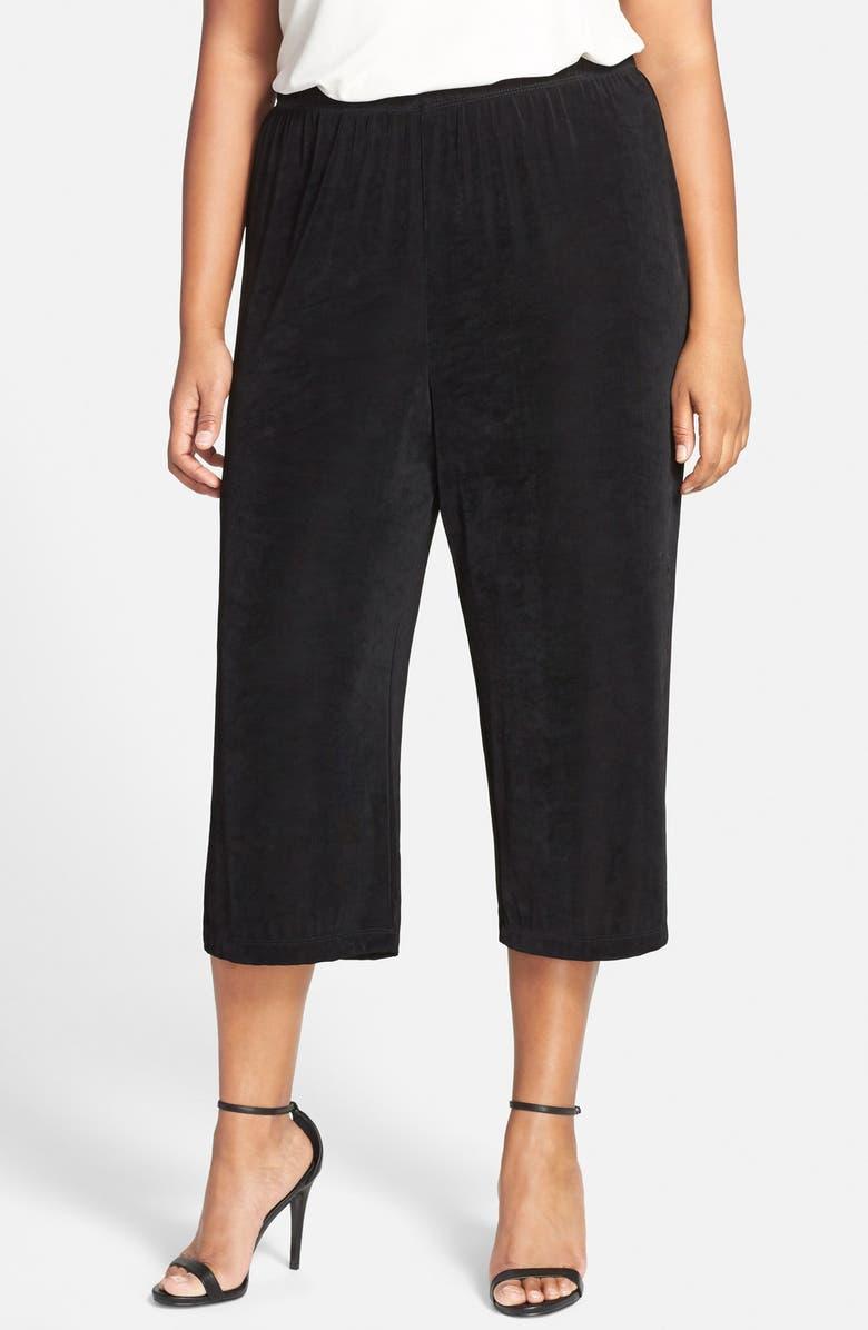 VIKKI VI High Rise Stretch Knit Crop Pants, Main, color, 011