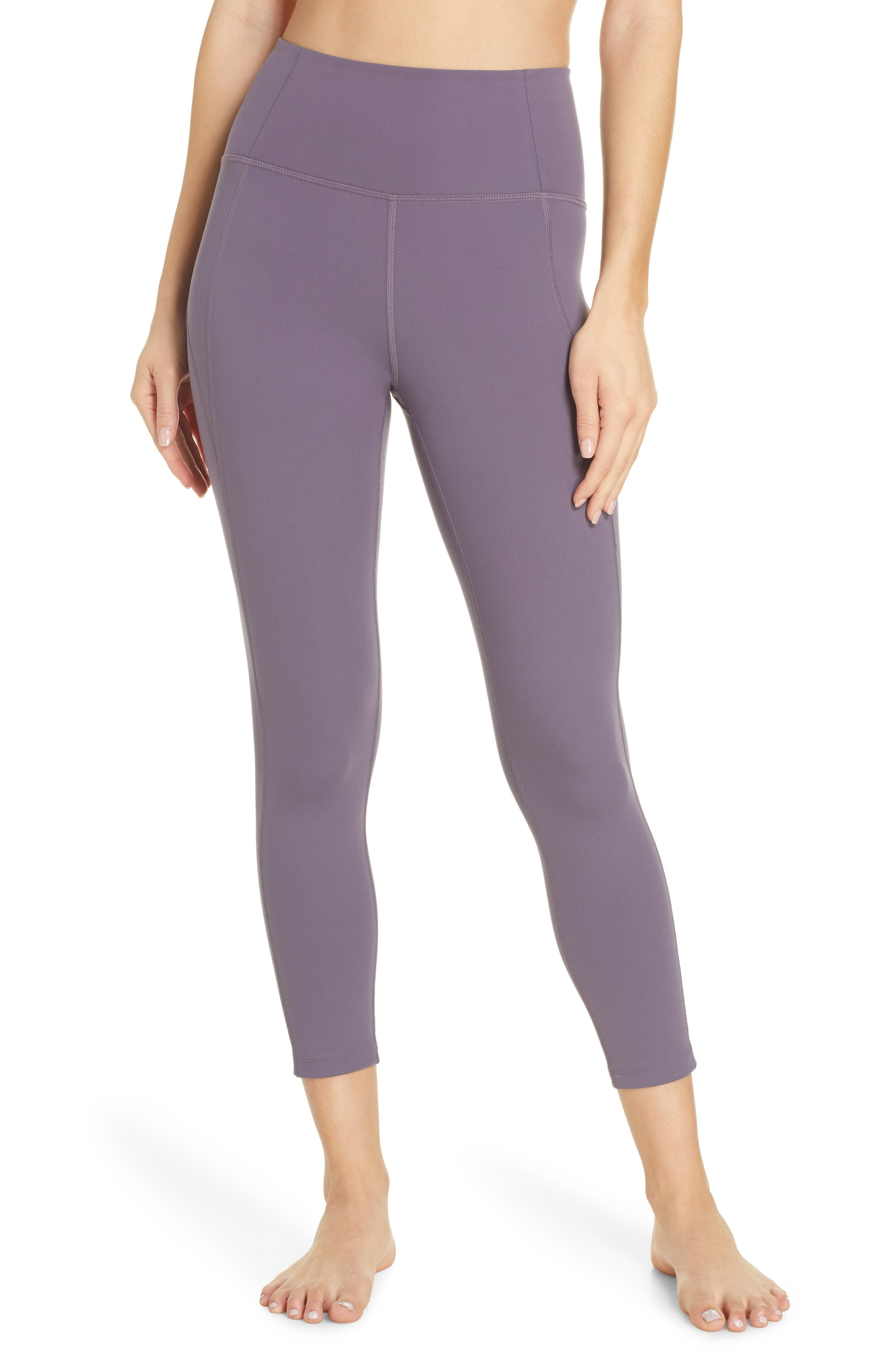 Girlfriend Collective High Waist 7/8 Leggings, Purple
