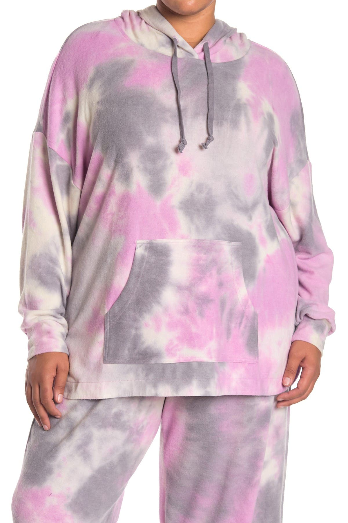 Image of MELLODAY Brushed Tie Dye Hoodie