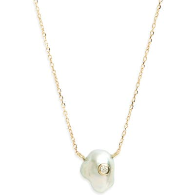Mizuki Sea Of Beauty Pearl & Diamond Pendant Necklace