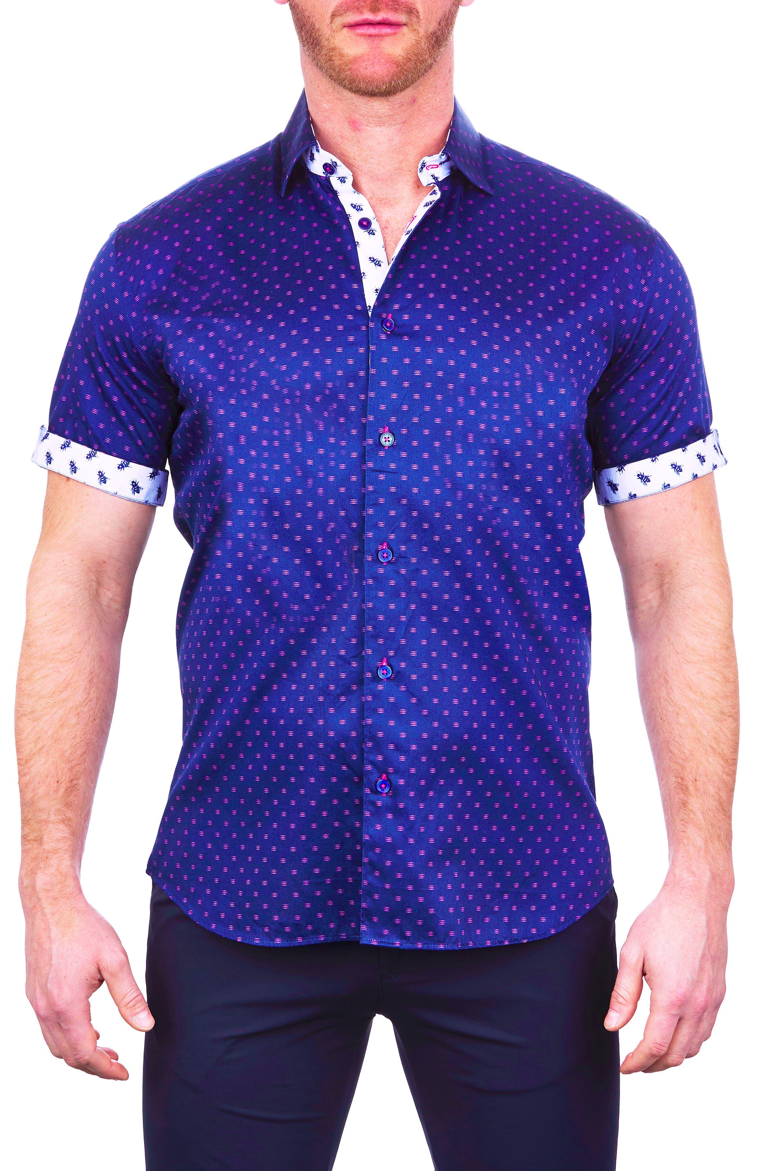 Galileo Line Short Sleeve Button-Up Shirt