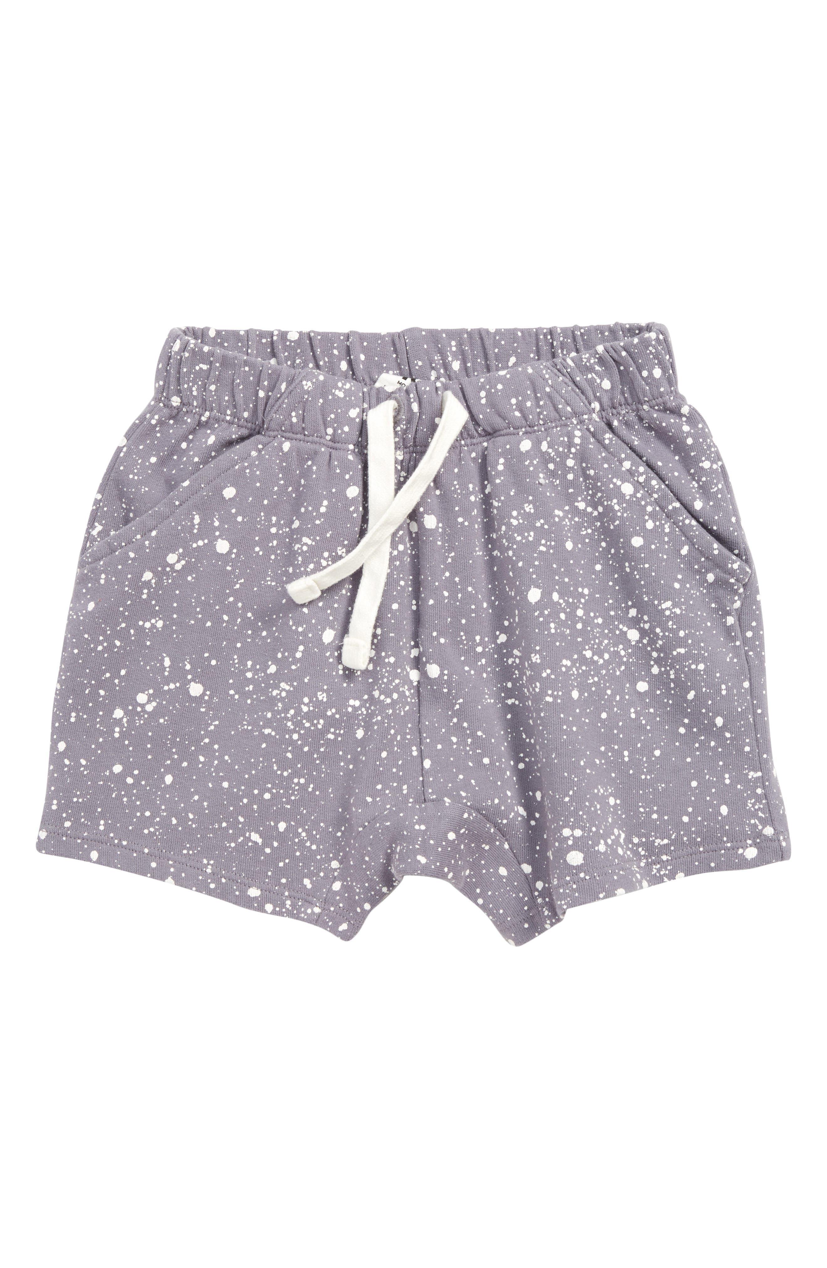 Supersoft Knit Shorts, Main, color, GREY QUICK SPLATTER