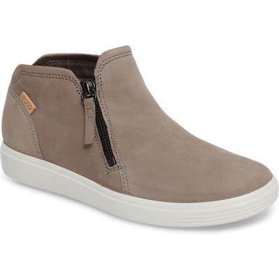 Ecco Soft 7 Mid Top Sneaker, Grey