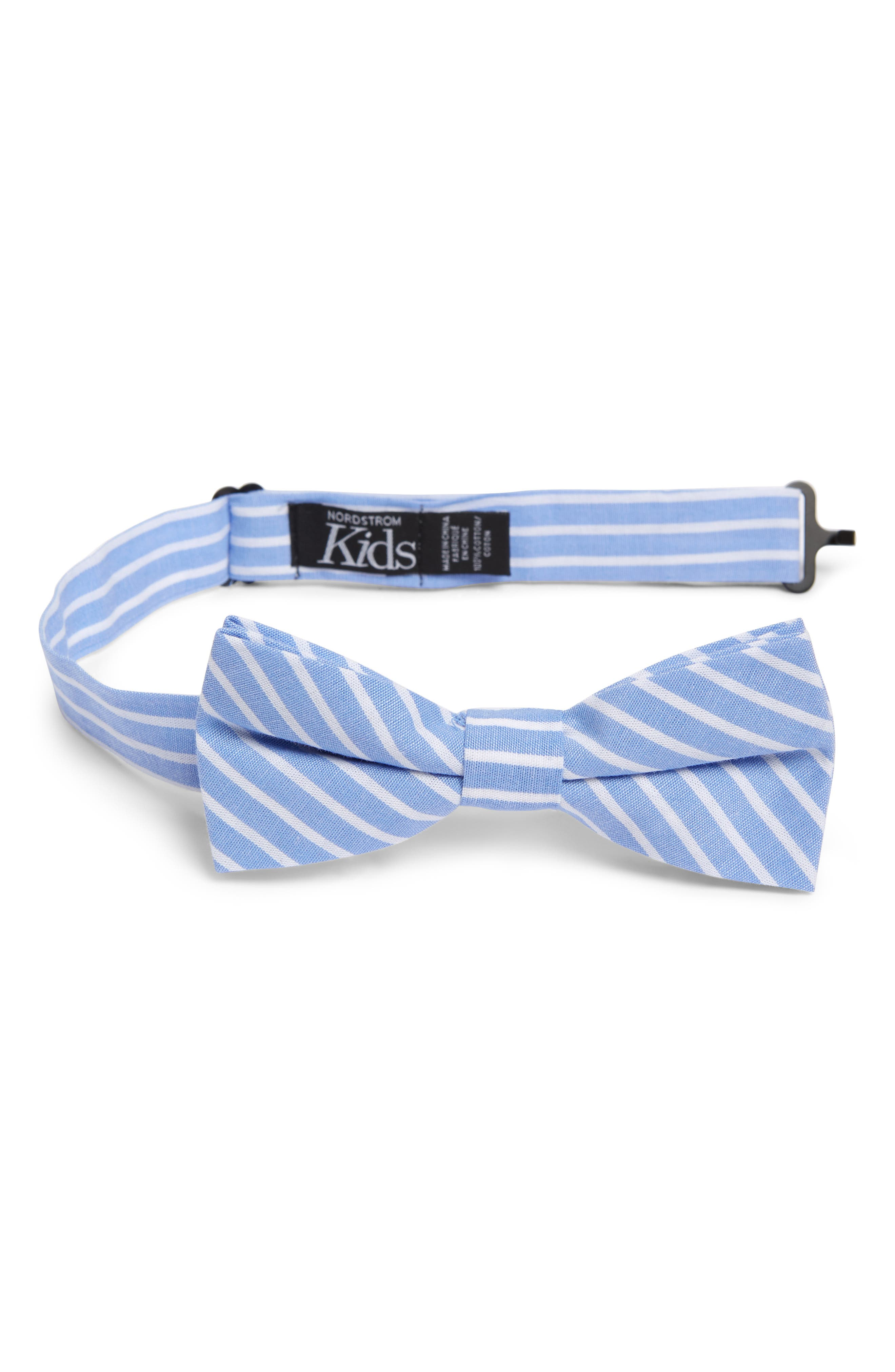 New Vintage Boys Clothing and Costumes Boys Nordstrom Adam Stripe Cotton Bow Tie $22.00 AT vintagedancer.com